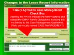 changes to the lease record information8