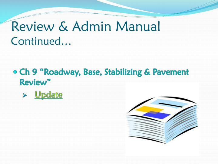 Review & Admin Manual