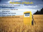 definition of biofuels