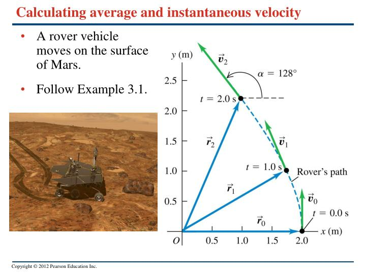 Calculating average and instantaneous velocity