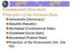 fundamental structural principles of the german state1
