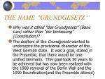 the name grundgesetz1