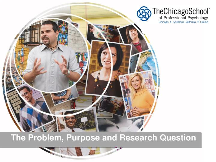 the problem purpose and research question n.