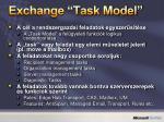 exchange task model