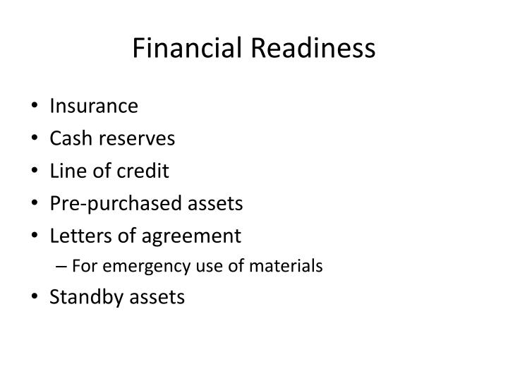 Financial Readiness