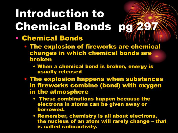 Introduction to chemical bonds pg 297