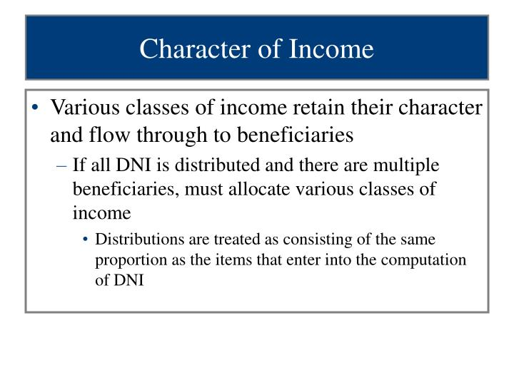 Character of Income