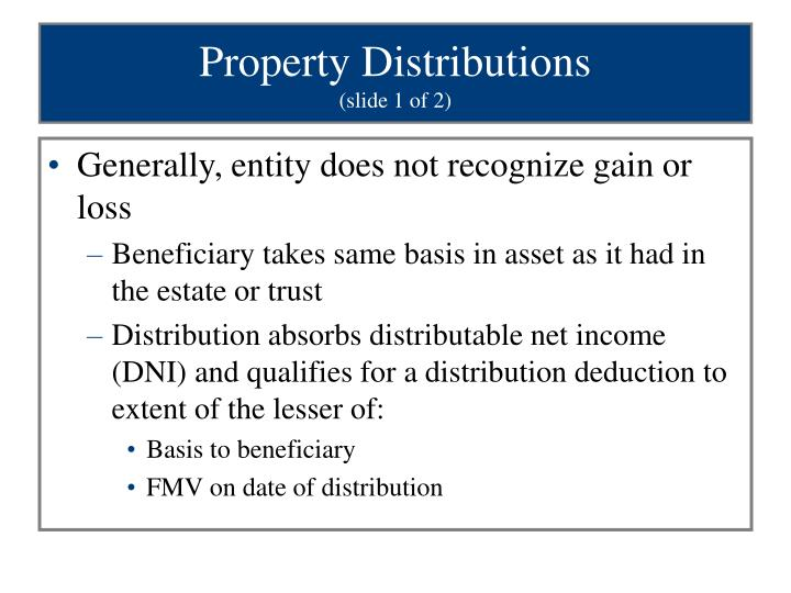 Property Distributions