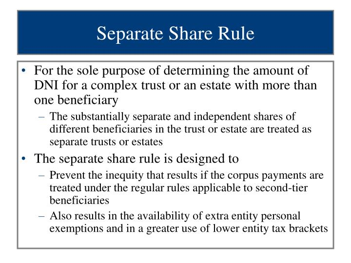 Separate Share Rule