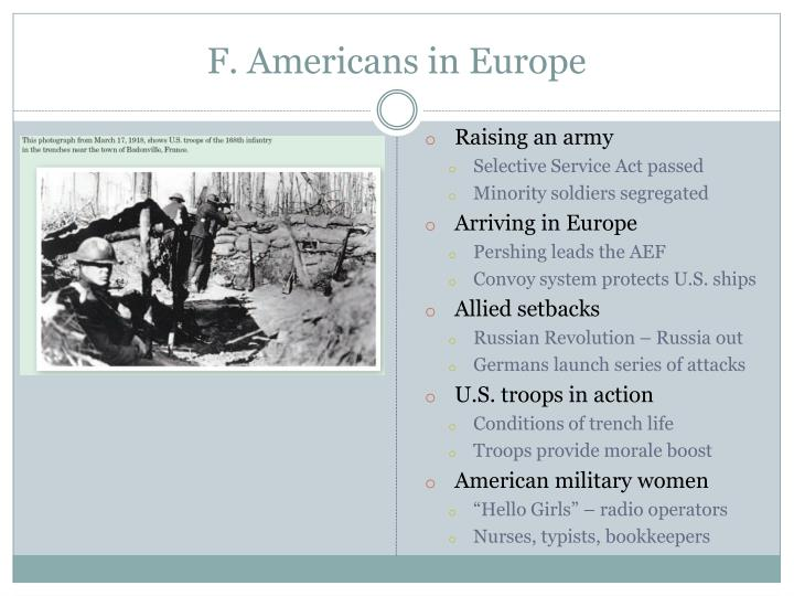 F. Americans in Europe