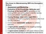key areas for mainstreaming drr into emergency actions3