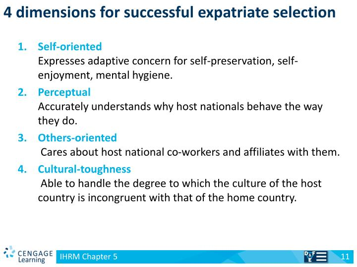 4 dimensions for successful expatriate selection