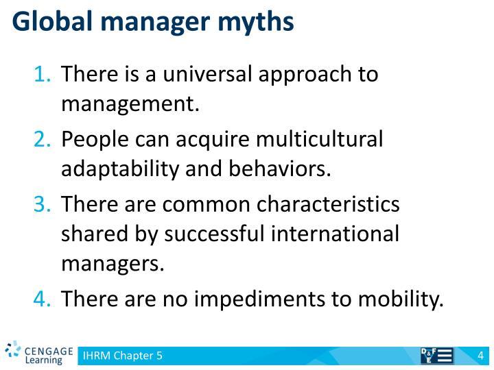 Global manager myths