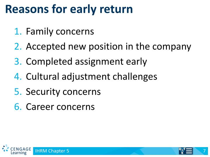 Reasons for early return