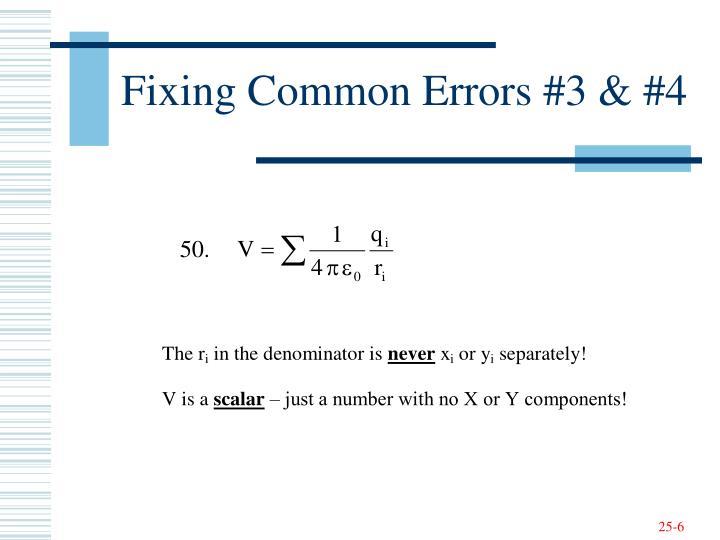 Fixing Common Errors #3 & #4