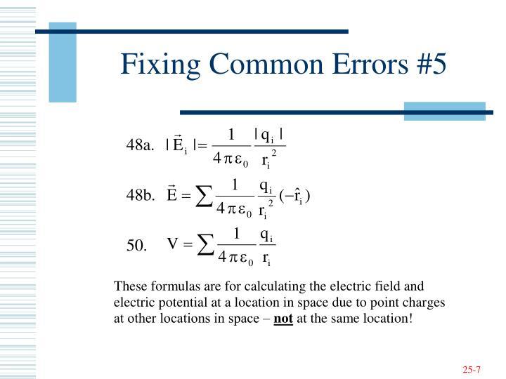 Fixing Common Errors #5