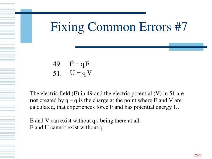 Fixing Common Errors #7