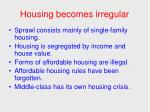 housing becomes irregular