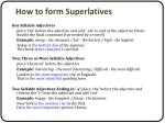 how to form superlatives