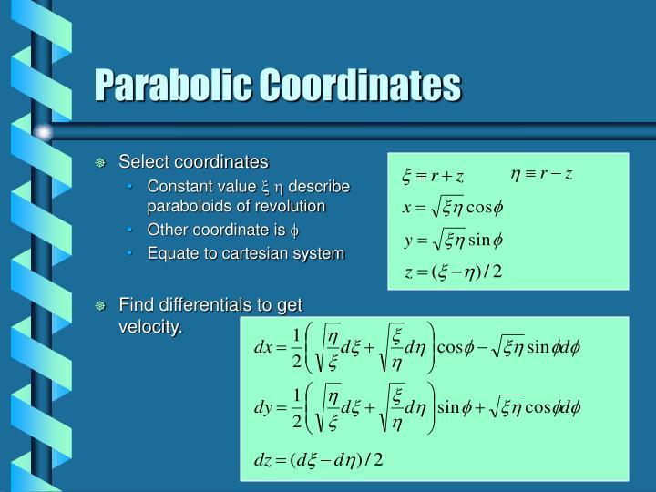 Select coordinates