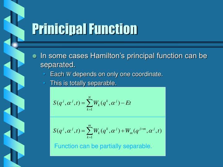 Prinicipal function