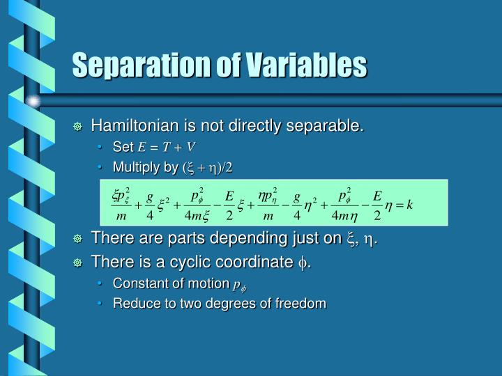 Separation of Variables
