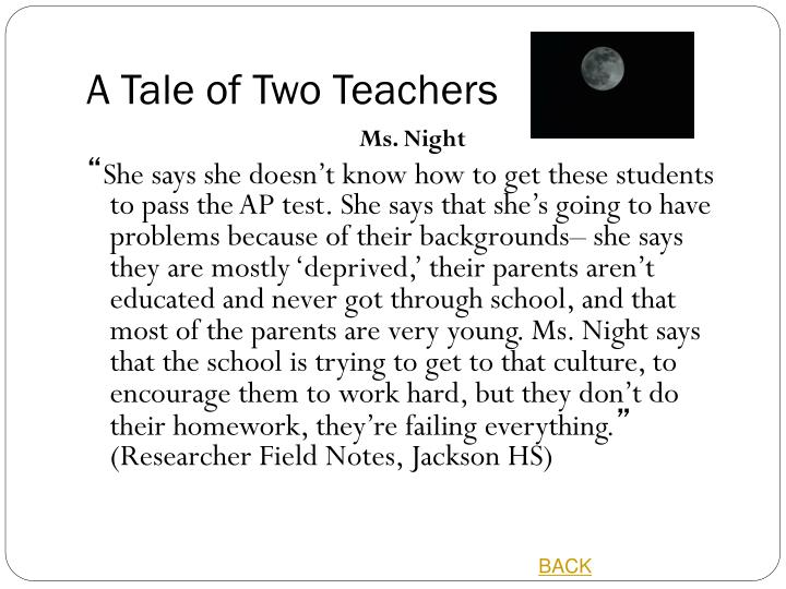 A Tale of Two Teachers