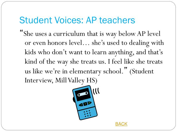 Student Voices: AP teachers