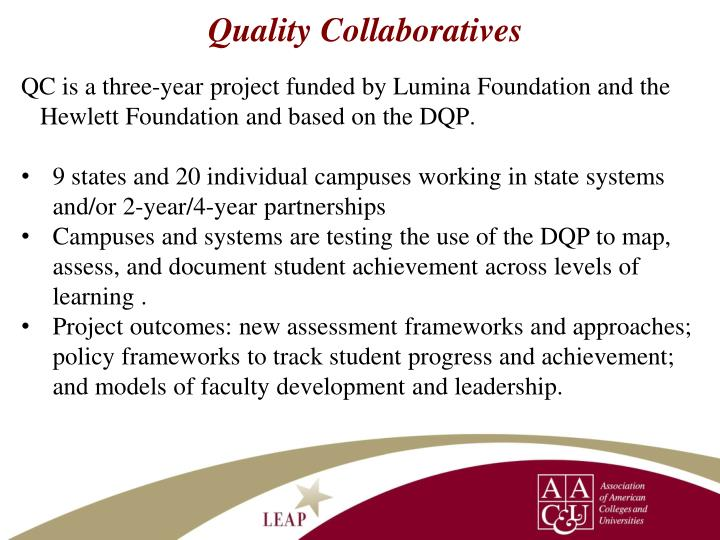 Quality Collaboratives