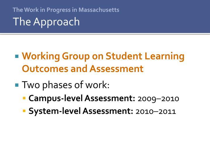 The Work in Progress in Massachusetts