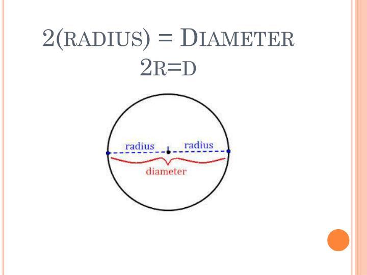 2 radius diameter 2r d