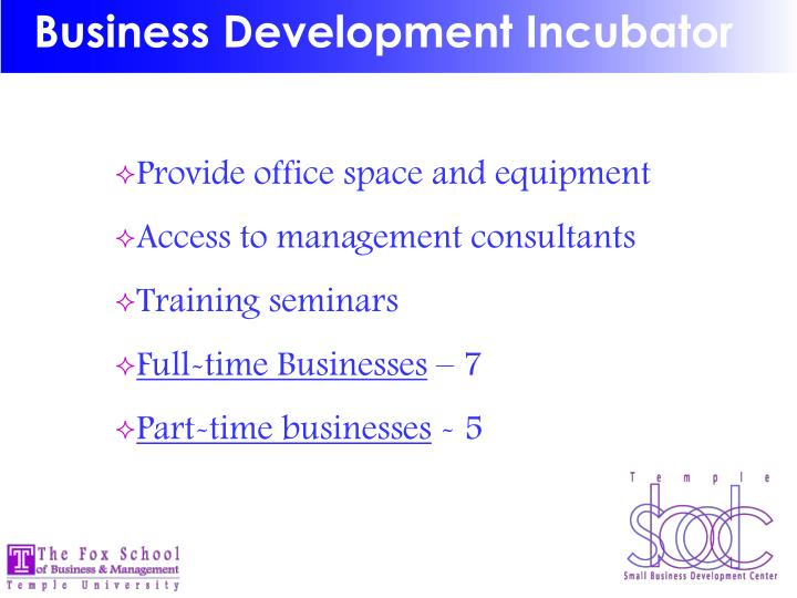Business Development Incubator