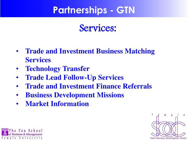 Partnerships - GTN