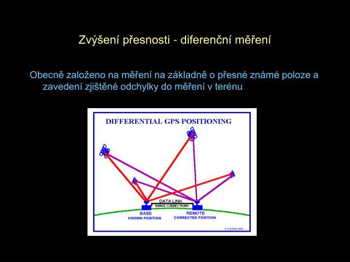 Zvýšení přesnosti - diferenční měření