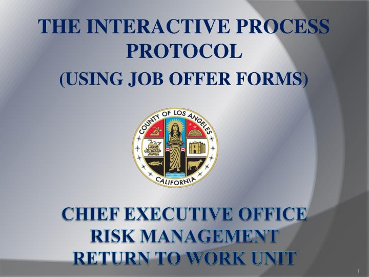 The interactive process protocol using job offer forms