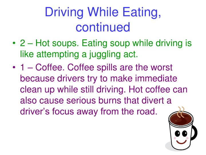 Driving While Eating,