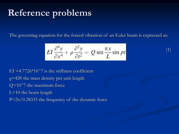 Reference problems