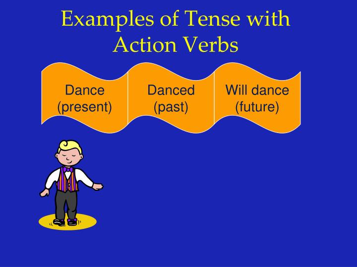 Examples of Tense with Action Verbs