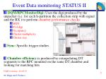 event data monitoring status ii