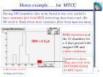 histos example for mtcc