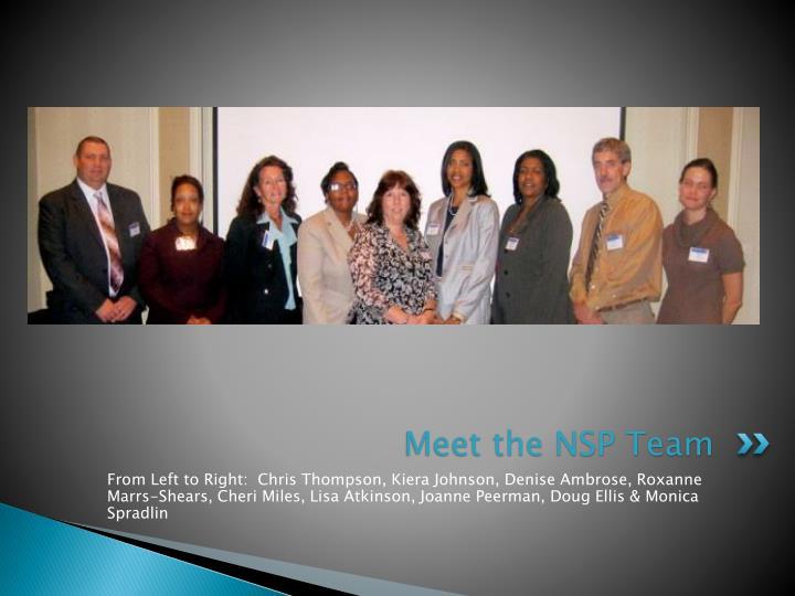 Meet the nsp team