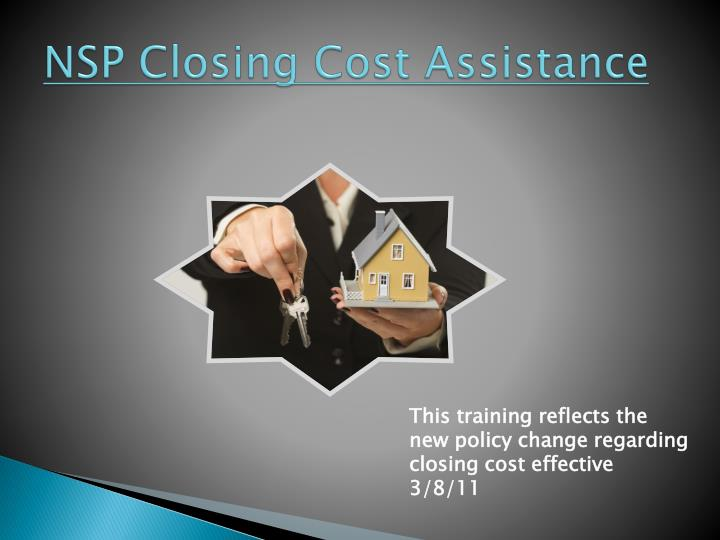 NSP Closing Cost Assistance