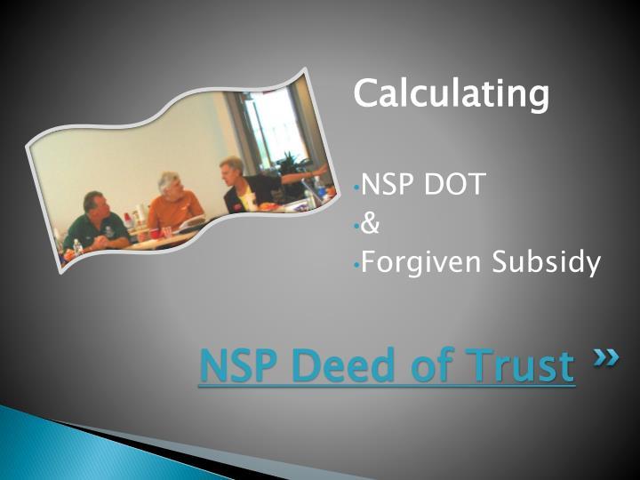 NSP Deed of Trust