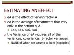 estimating an effect