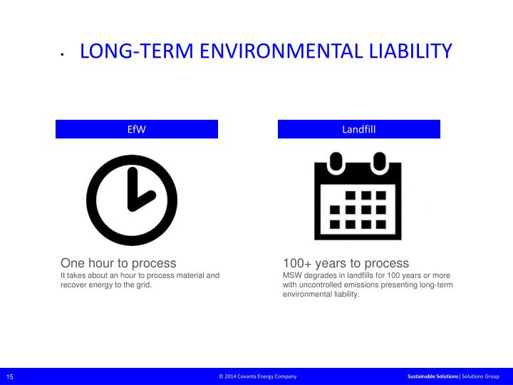 LONG-TERM ENVIRONMENTAL LIABILITY