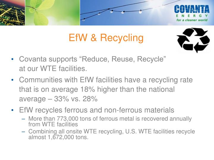 EfW & Recycling