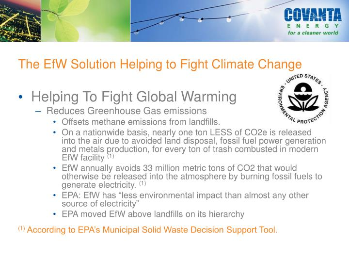 The EfW Solution Helping to Fight Climate Change