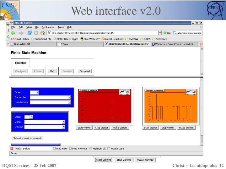 Web interface v2.0