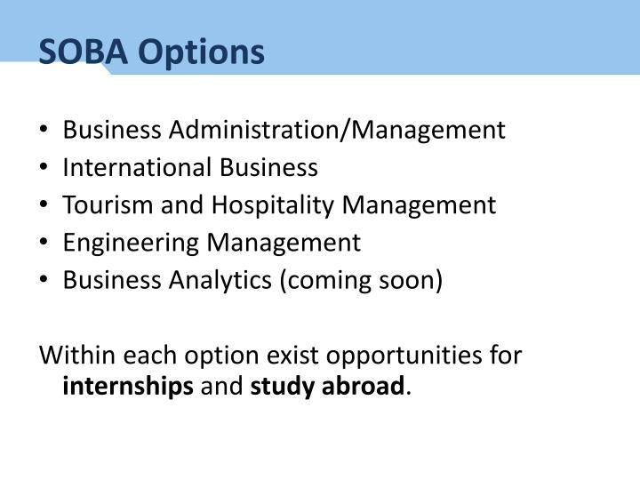 SOBA Options