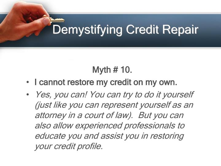 Demystifying Credit Repair